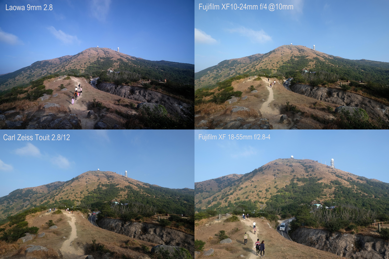 Comparaison angle de vue Laowa 9mm